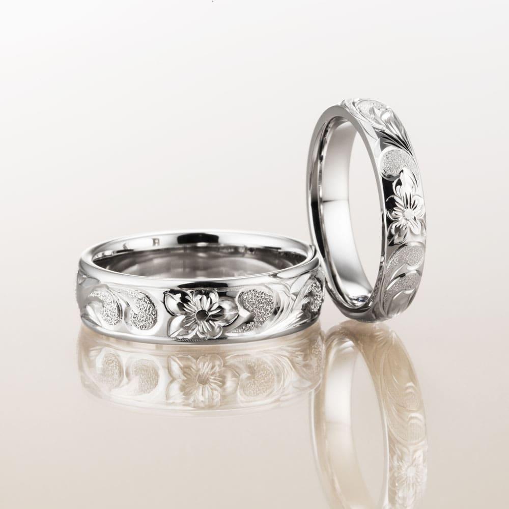 マカナ結婚指輪のプラチナ900バレルタイプ6mm幅と4mm幅