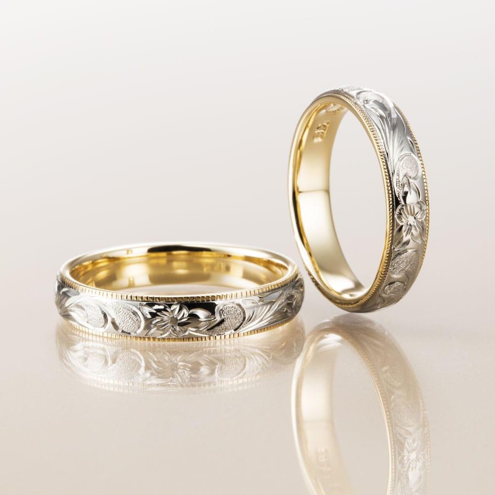 マカナ結婚指輪のレイヤータイプ4mm幅