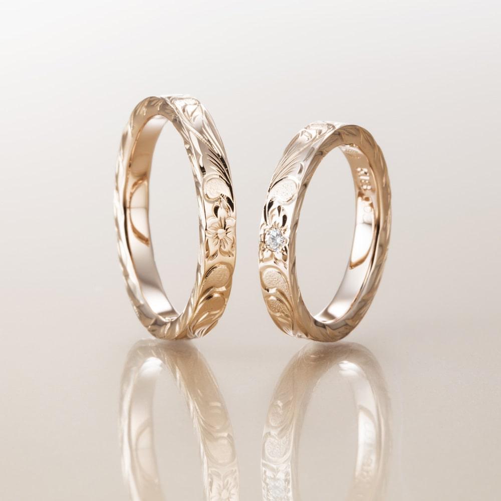 マカナ結婚指輪のスリムタイプ
