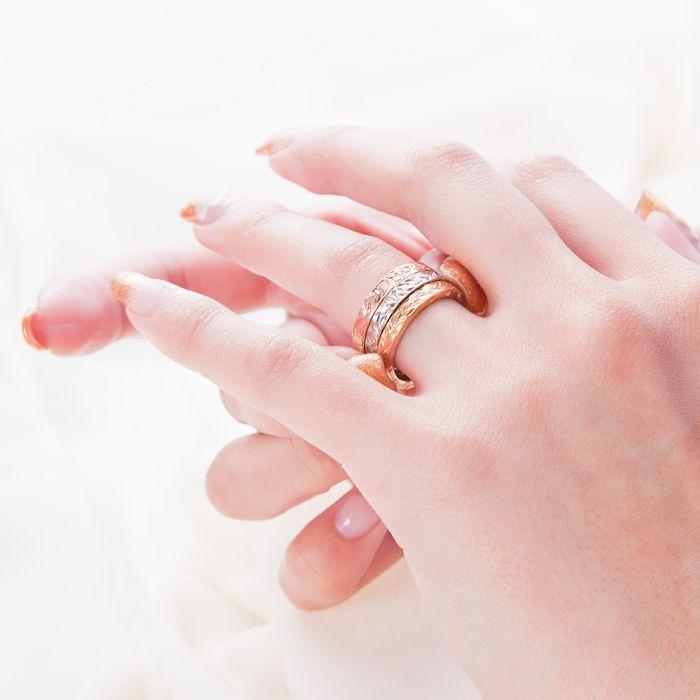 マカナ 結婚指輪 スリムタイプ 装着画像